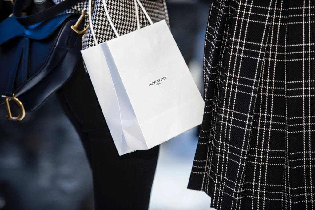 London high end shopping bag