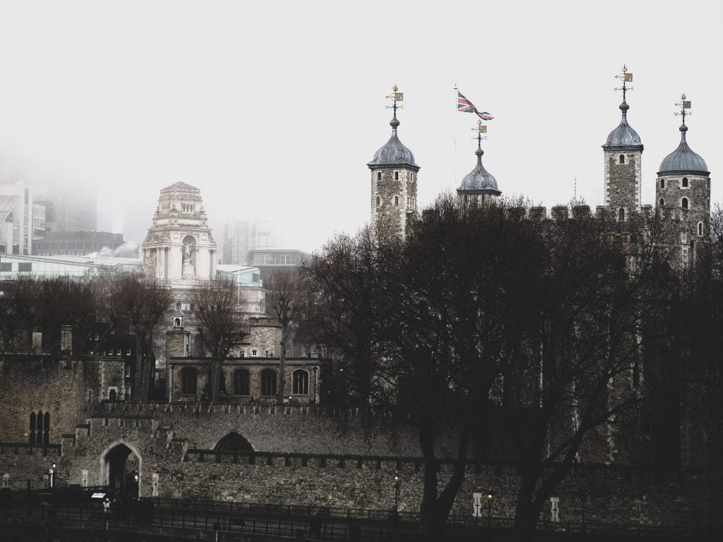 Tower of London in the rain