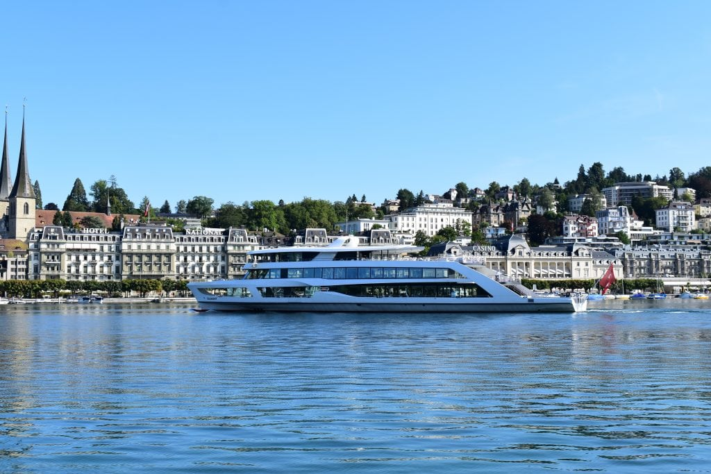 ferry boat on lake lucerne