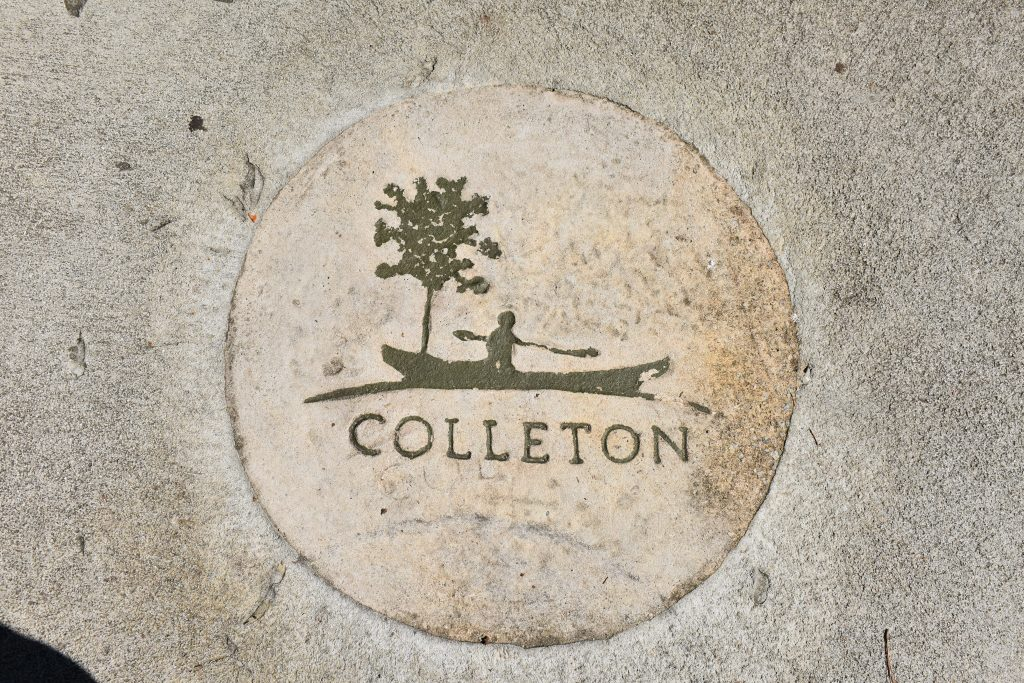 Colleton State Park sign stamped in concrete
