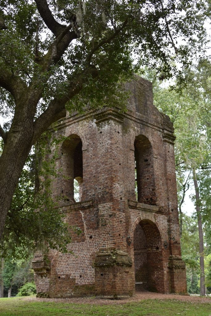 St George's Church bell tower ruins at Colonial Dorchester State Historic Site