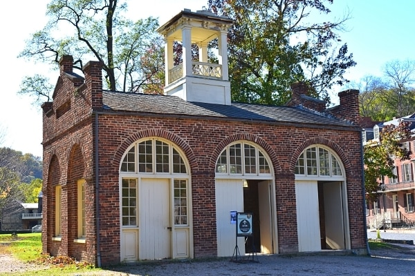 Brick building known as John Brown's Fort in Harpers Ferry National Historical Park
