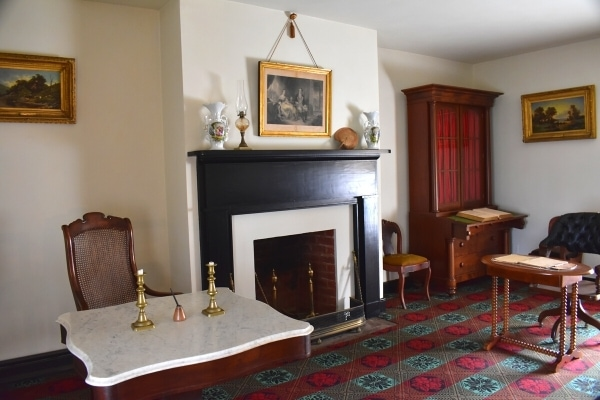 McLean House at Appomattox Courthouse National Historic Site, showing interior parlor where Grant and Lee signed the surrender for the American Civil War